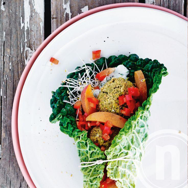 Meat free monday: Wrap med grønne falafler, sødt og sprødt af Michelle Kristensen