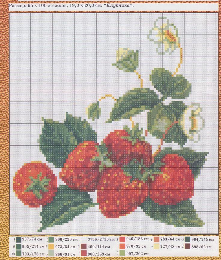 cross stitch - strawberries