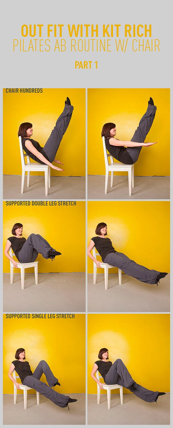 Pilates Abs Workout With a Chair: Part One