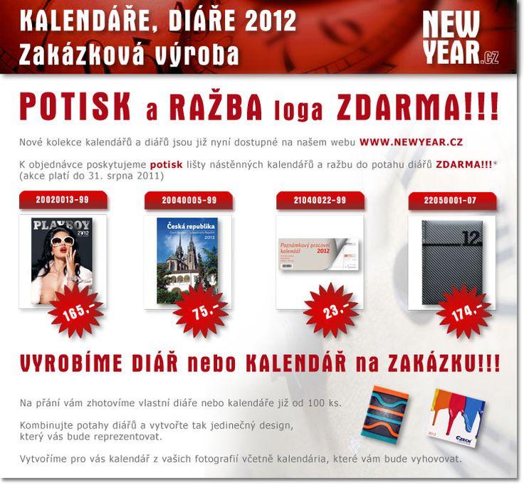 Potisk na kalendáře a diáře zdarma http://www.newyear.cz/cz/reklamni-potisk/sitotisk.html