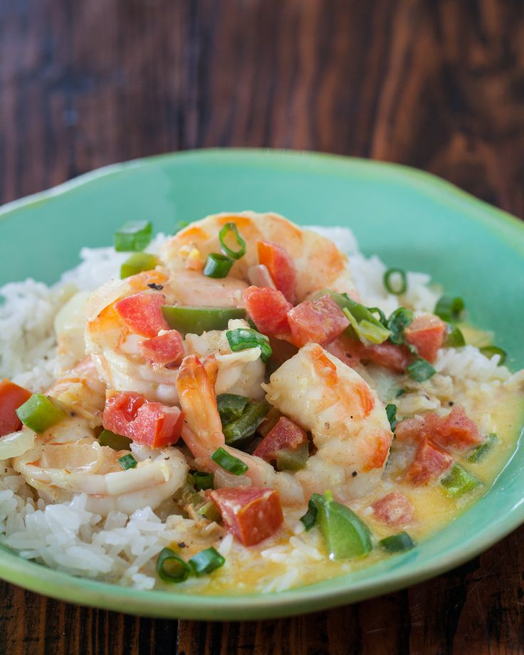 Coconut Curry Shrimp with Coconut Rice_Caribbean Creole curry from the cookbook, Flavors of Belize_I learned something new from cookbook author Tanya McNabb – Caribbean Creole is different from Louisiana Creole! Their cuisine features lots of seafood and use of coconut, so this recipe for Coconut Curry Shrimp with Coconut Rice is a perfect example of a Creolean speciality.
