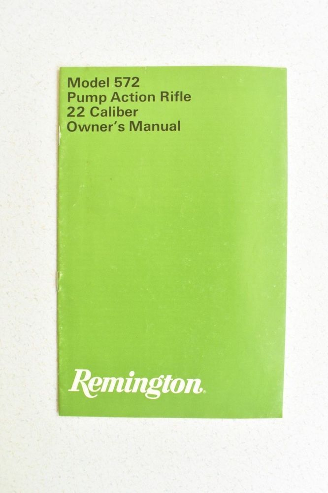Remington Model 581-582 Owner/'s Manual
