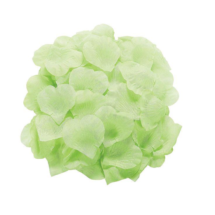 mint green rose petals