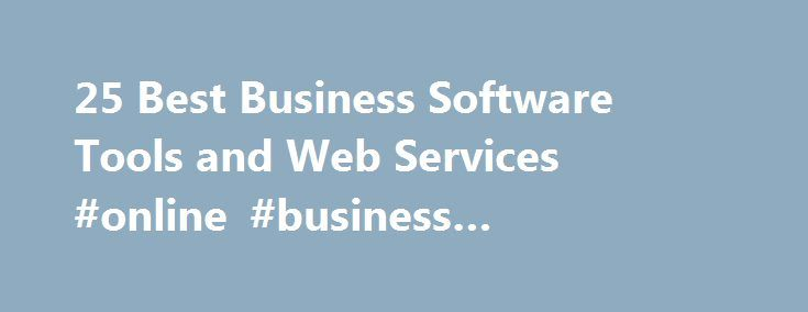 "25 Best Business Software Tools and Web Services #online #business #opportunities http://business.remmont.com/25-best-business-software-tools-and-web-services-online-business-opportunities/  #business software # 25 Best Business Software Tools and Web Services Anyone who says their business ""runs itself"" probably owes a great debt of gratitude to a small army of software applications and Web services that tirelessly feeds the machine from behind the scenes. From creating and storing…"