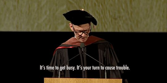 "wilwheaton: "" themercuryjones: "" John Waters commencement address RISD 2015. "" ALWAYS REBLOG. """
