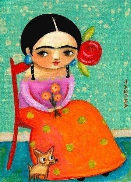 Frida - students can create artist's portraits - cute art!
