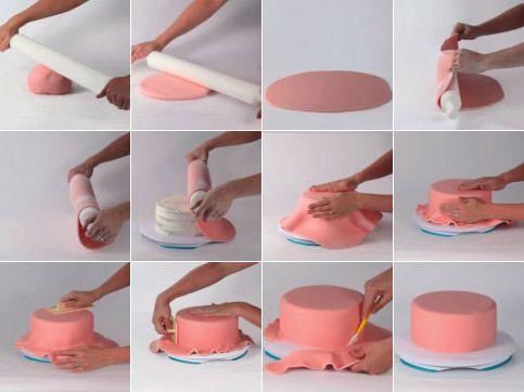 Déco Sucrée : technique de recouvrement en pâte à sucre