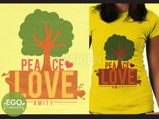Amity Peace Love T-shirt based on the Divergent books by Veronica Roth (by Madi de Jesus at Ego Friendly Designs)