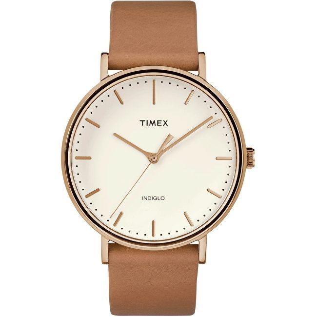 Unisex hodinky od značky TIMEX sú módnym doplnkom na bežné nosenie do práce, ale aj na voľný čas. Na okrúhlom ciferníku sa vynímajú zlaté indexy a ručičky. Minerálne sklíčko je odolnejšie voči škrabancom. Elektroluminiscenčné podsvietenie INDIGLO uľahčí orientáciu na hodinkách v tme. Hnedý kožený remienok zabezpečí komfortné nosenie hodiniek na každom zápästí.