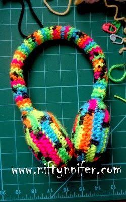 Free Crochet Ear Muffs Pattern by Niftynnifer