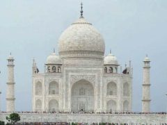 Archaeological Survey of India At Work On 2 Minarets Of Taj Mahal
