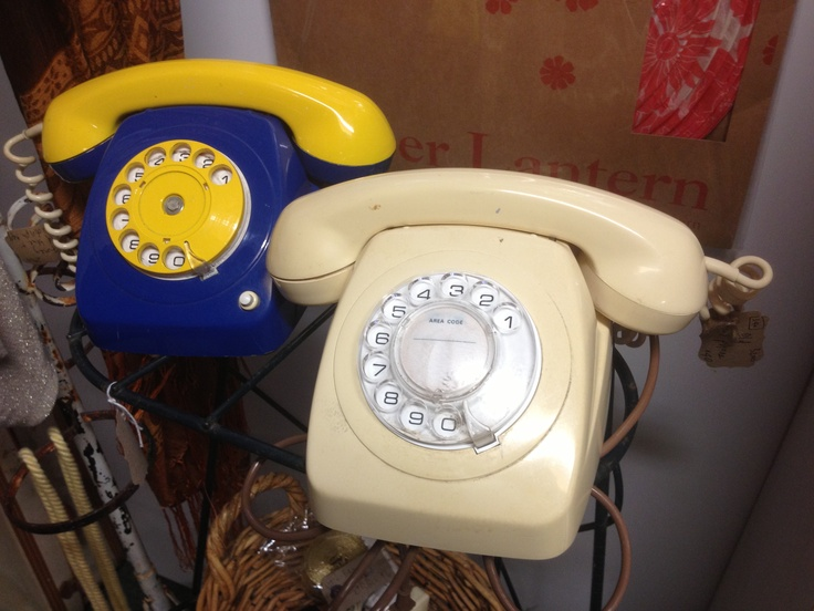 Dial 'M' for Mill Markets on these rotary telephones from Flotsam (Stall #340 Geelong) at The Mill Markets - Ballarat, Daylesford & Geelong www.millmarkets.com.au