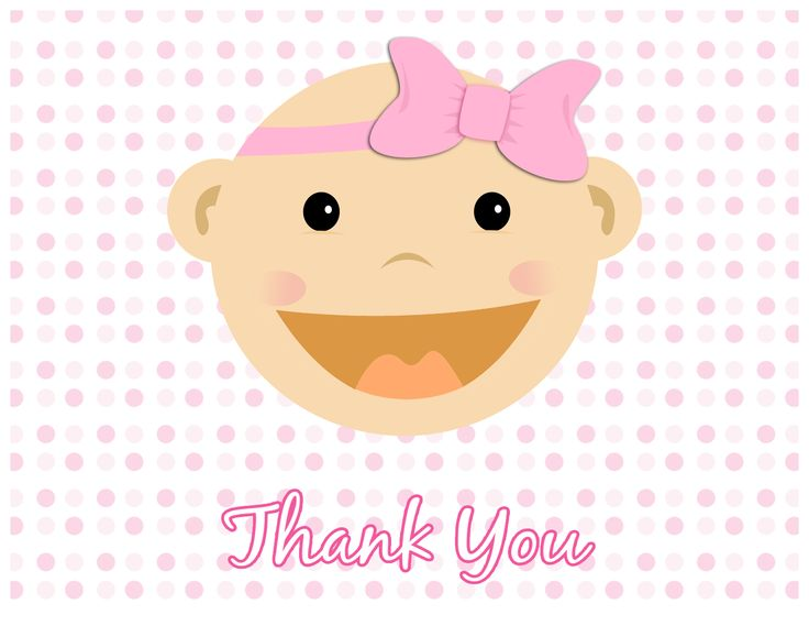Baby Girl Thank You Card
