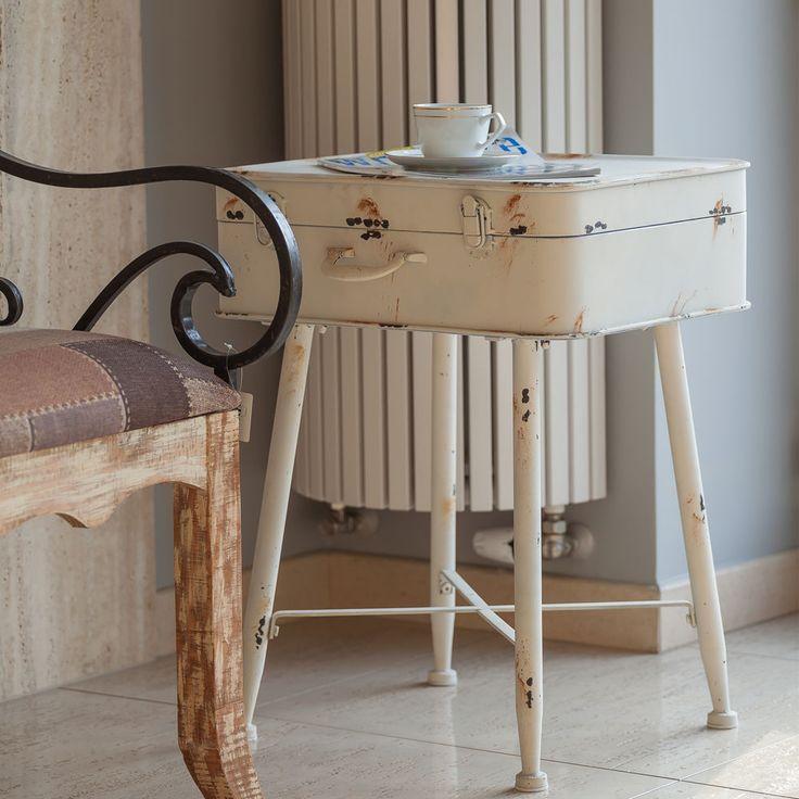 Tisch Gartentisch Metall Koffer-Form Provenzalischer Stil Metalltisch Dekotisch in Garten & Terrasse, Möbel, Tische   eBay!