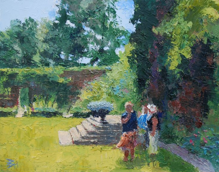 A Lawn At Sissinghurst, Oil painting by Brian Hanson | Artfinder