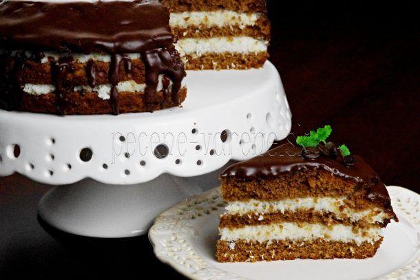 Kokosovo-čokoládová fit tortička