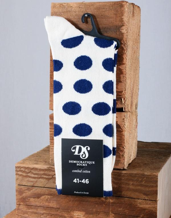Democratique Socks Spotted Sock - Blue/White