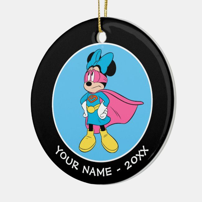 Minnie Mouse Super Hero In Training Ceramic Ornament Affiliate Ad Hero Training Ceramic In 2020 Minnie Mouse Gifts Disney Invitations How To Make Ornaments