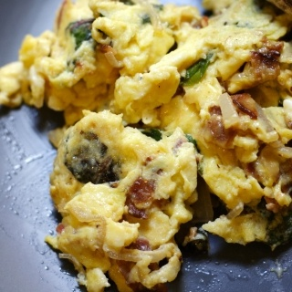 Swiss Chard and Basil Eggs | Delicious Goodies - Recipes | Pinterest