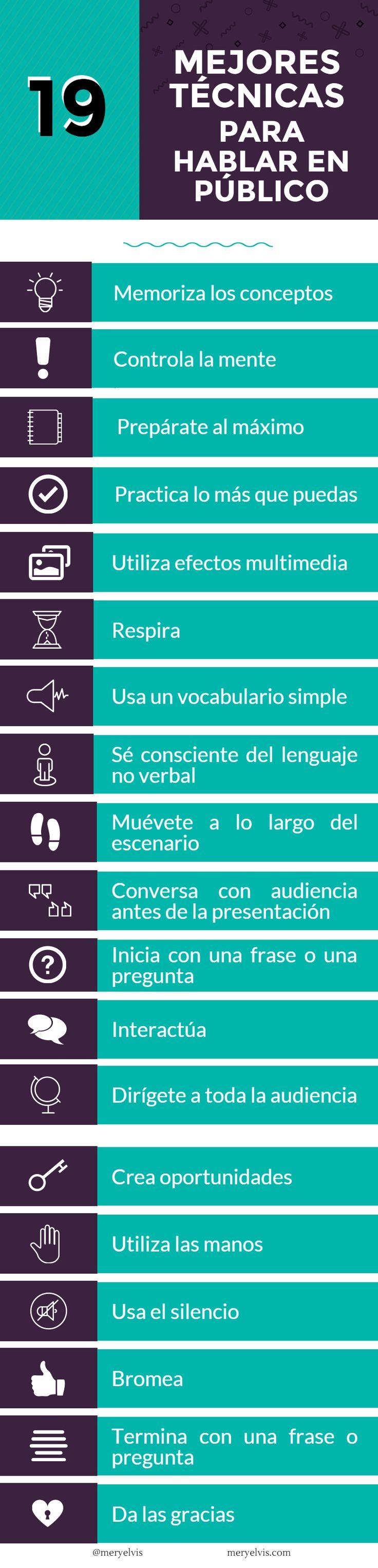 Las 19 mejores técnicas para hablar en público