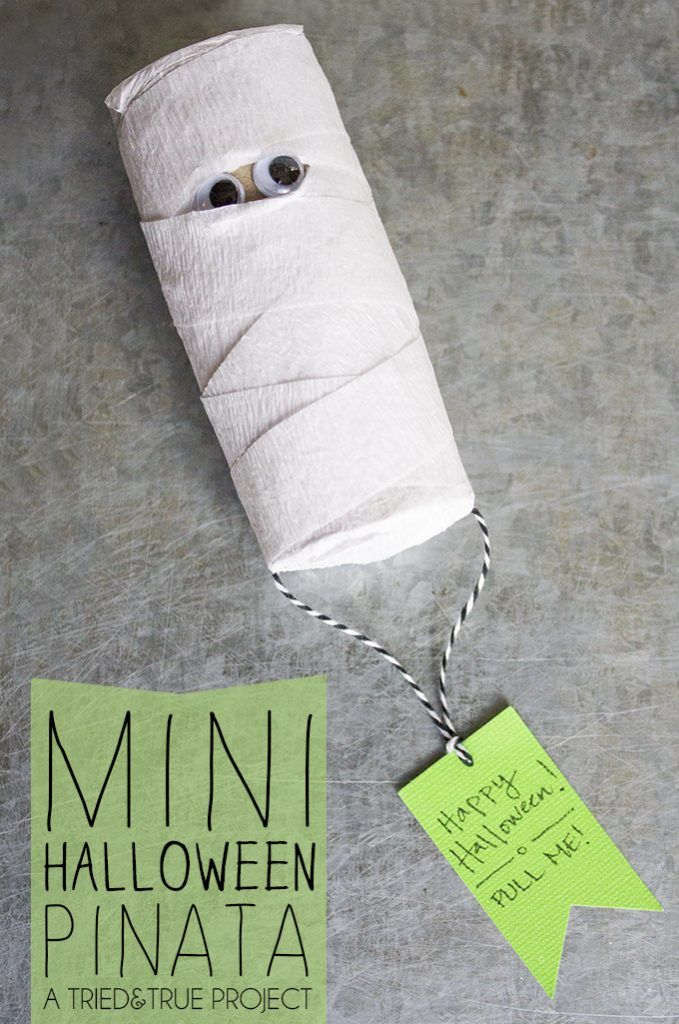 Make this Mini Halloween Pinata as a super inexpensive favor or gift!