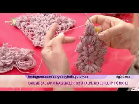 Derya Baykal'la Gülümse: Bademli Şal Yapımı - YouTube