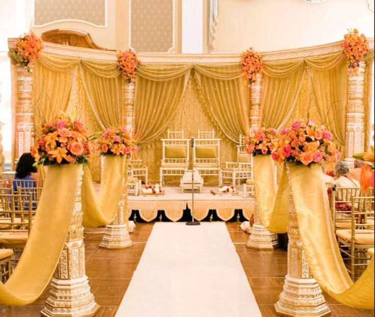 46 best wedding mandaps images on pinterest desi wedding for The best wedding decorations