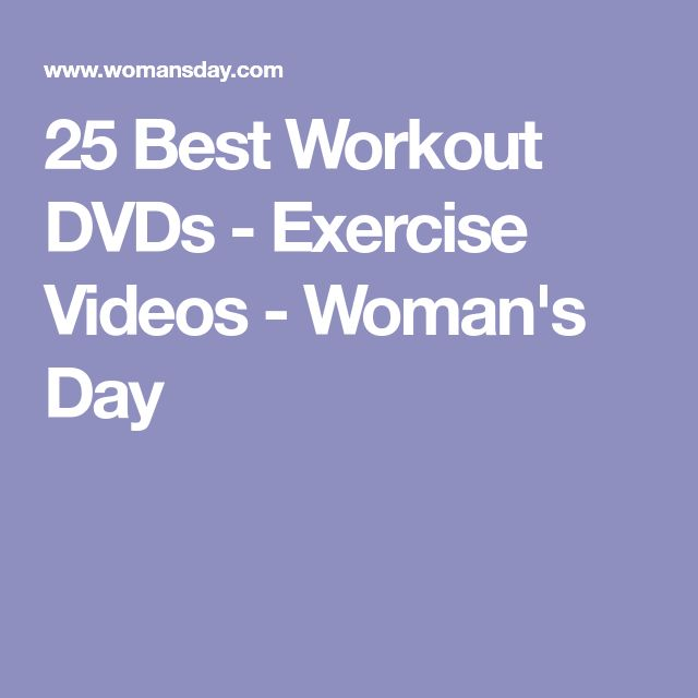 25 Best Workout DVDs - Exercise Videos - Woman's Day