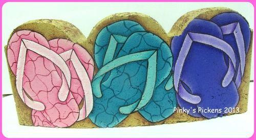 Flip-Flop paving stone e-pattern, $6.00
