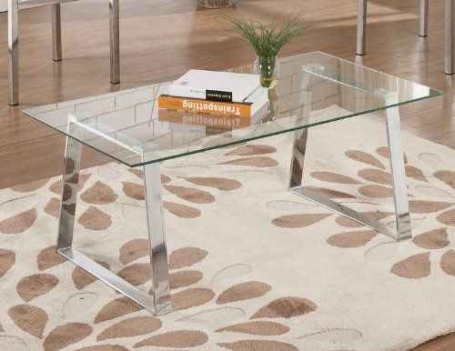 kings brand modern design chrome finish with glass top cocktail coffee table check out living room room
