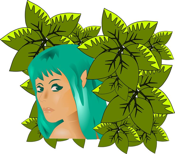 Woman Girl Turquoise Leaves transparent image