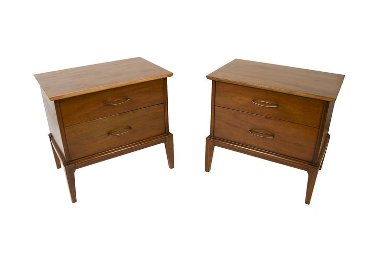 Walnut Nightstands End Tables Mid Century Modern by HearthsideHome on Etsy