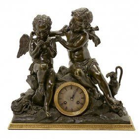 A 19TH C. FRENCH BRONZE CLOCK