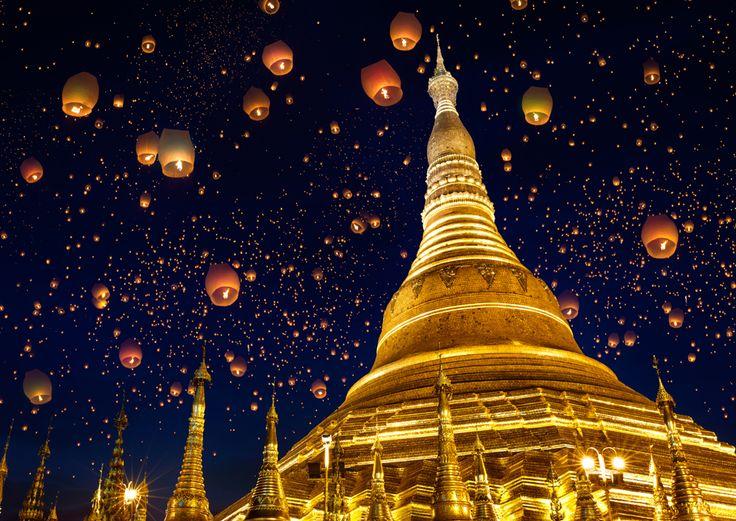 Una torre dorada de 100 metros, el lugar más importante para los budistas del país, construida en el siglo V (¡ya hacían construcciones impresionantes los antiguos!), y luego reformada en altura posteriormente.