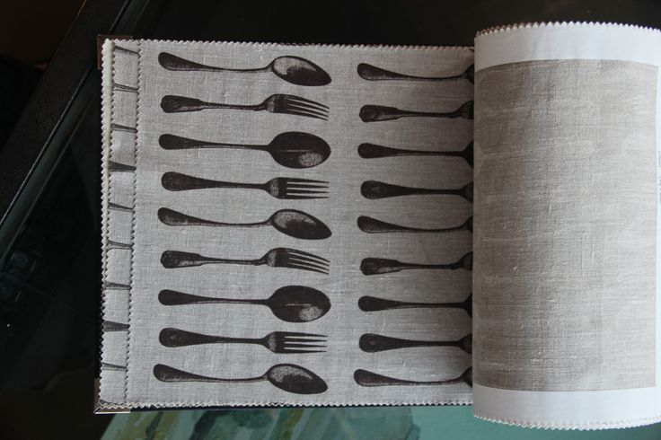 Linen Spoons and Forks charcoal