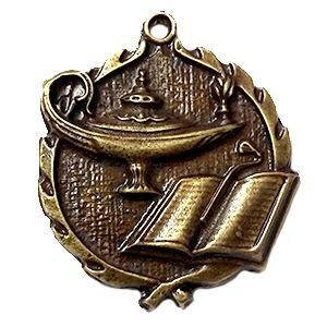 Medalla genérica ref Estudio, de gran uso en premiaciones académicas y de reconocimiento estudiantil