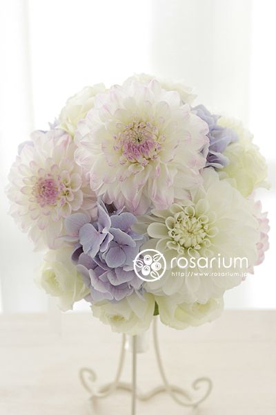 wedding bouquet dahlia