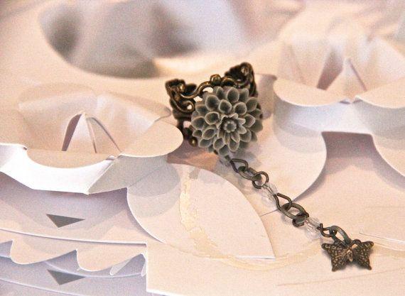 What Do Butterflies Eat Science Geek Girl Ring by GirlyGeekChic, $8.50