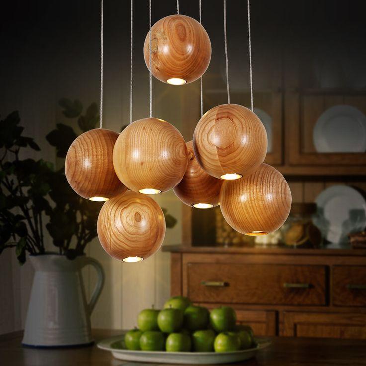цена: 13 362р Купить товарСеверных стран IKEA искусство деревянный освещение дизайнер гостиная столовая люстра простой деревянный шар дерево лампы в категории Подвесные светильникина AliExpress.