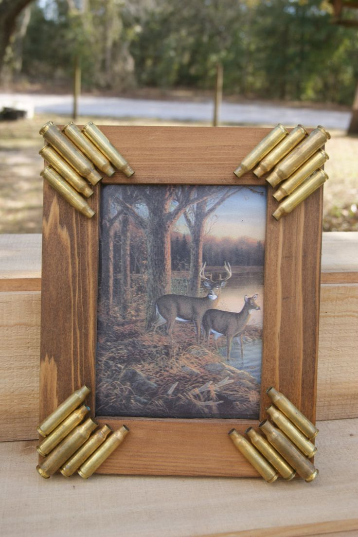 zip wallets mens Handmade Bullet Picture frame by SouthernCharmBullet on Etsy