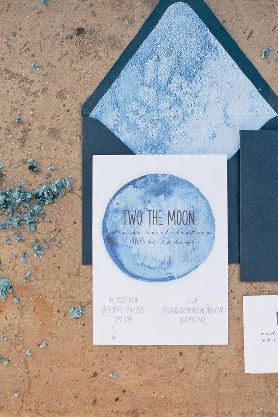 moon birthday invites