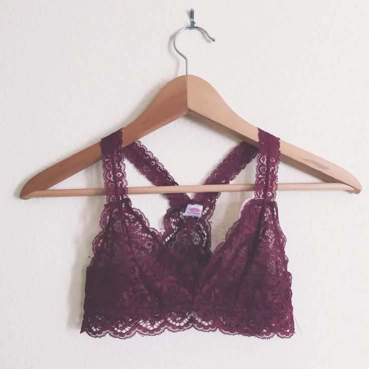 This beautiful, lacy halter bralette is a summer trend that we love. Wear these super comfy pieces under flowy tops or knit sweaters!