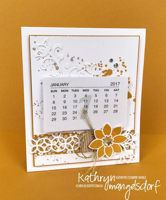 Stampin Up Calendar Ideas : Stampin up flourishing phrases gorgeous grunge mini
