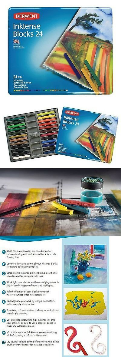 Other Drawing Supplies 11784: Derwent Drawing Supplies Inktense Ink Blocks 4Mm Core Metal Tin 24 Count ... New -> BUY IT NOW ONLY: $32.33 on eBay!
