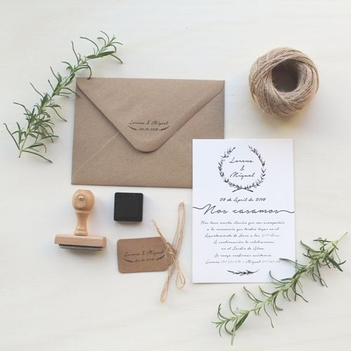 Invitaciones de boda – Rama natural | How Nice Project | Invitaciones de boda,…