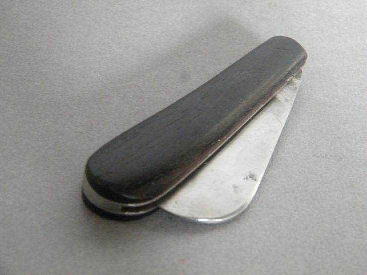 Antique Ebony Sailors Pocket Knife Circa 1850 1900