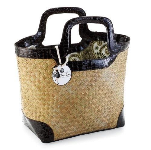 Tote Bag with Black Crocodile Handles by Mud Pie: Crocodiles Handles, Straws Totes, Handles Totes, Totes Bags, Mudpi Straws, Beaches Bags, Straws Crocodiles, Black Crocodiles, Tote Bags