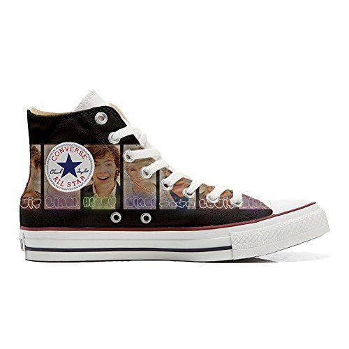 Converse All Star Hi Canvas, scarpe personalizzate (Prodotto Artigianale) One Direction - http://on-line-kaufen.de/make-your-shoes/converse-all-star-hi-canvas-scarpe-prodotto-one