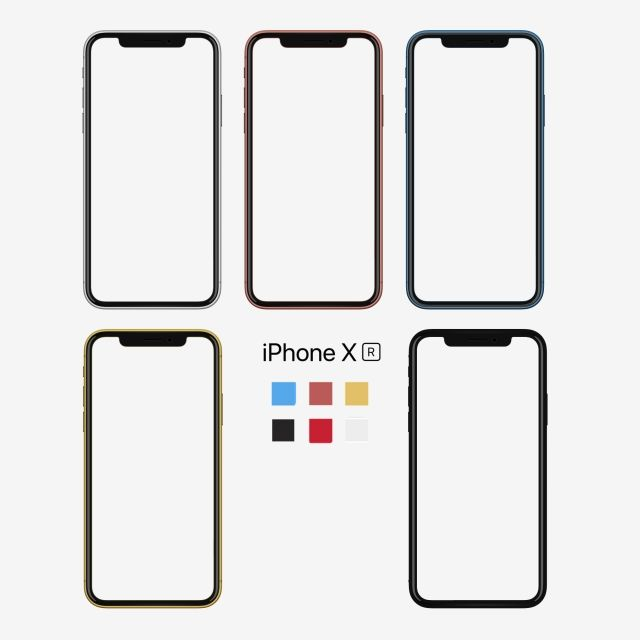 Iphone Xr All Color Mockup Phototype Iphone Xr Xsmobile Png