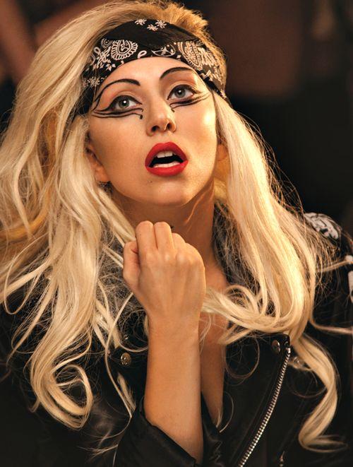 GaGa is a biblical biker chick in the Judas video #LadyGaGa #hair